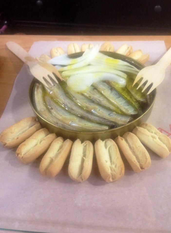 Agujitas con Cebolleta - El Pez de San Lorenzo