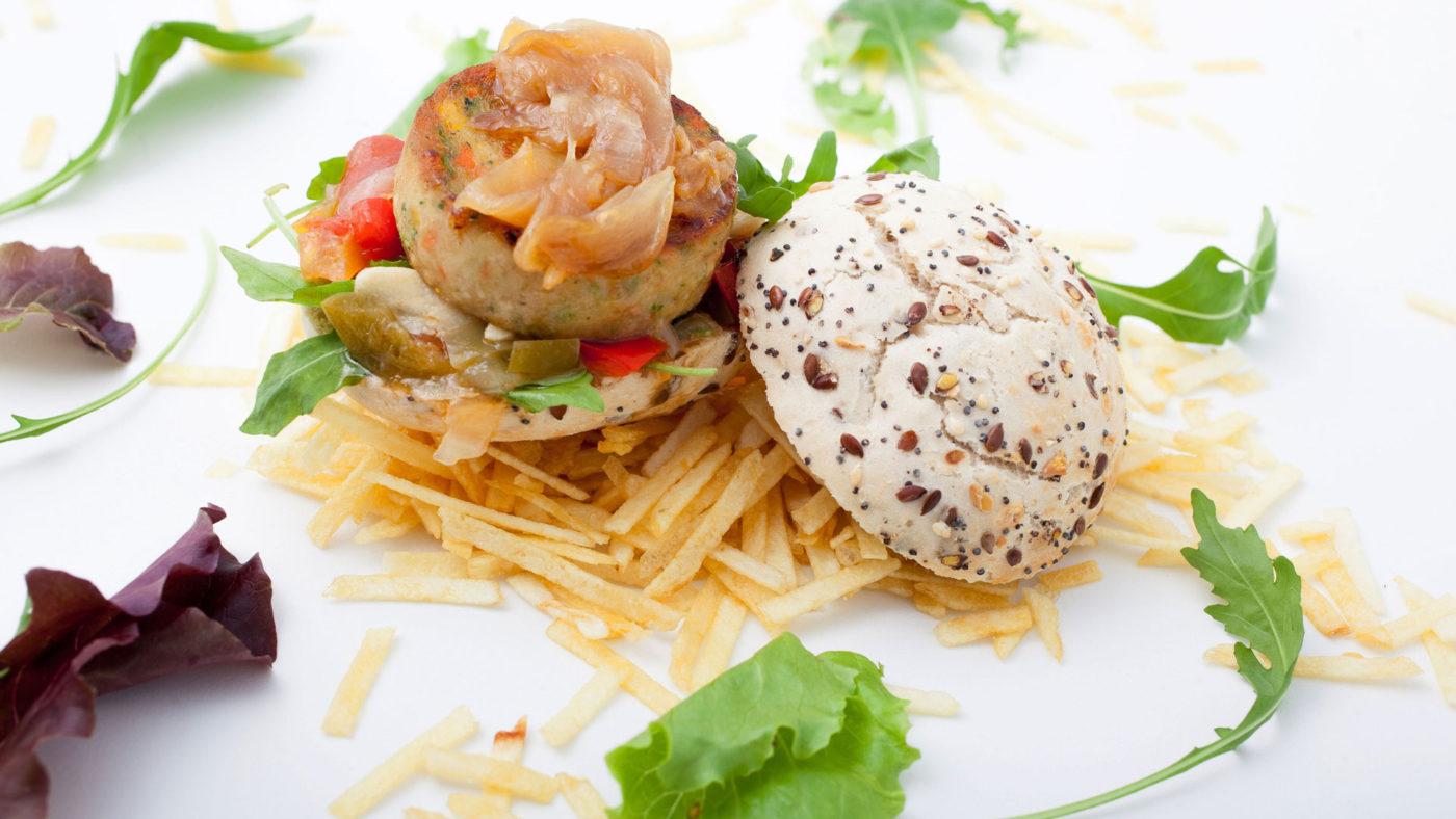 Hamburguesa de parrillada de verduras - La Quinta del Monje