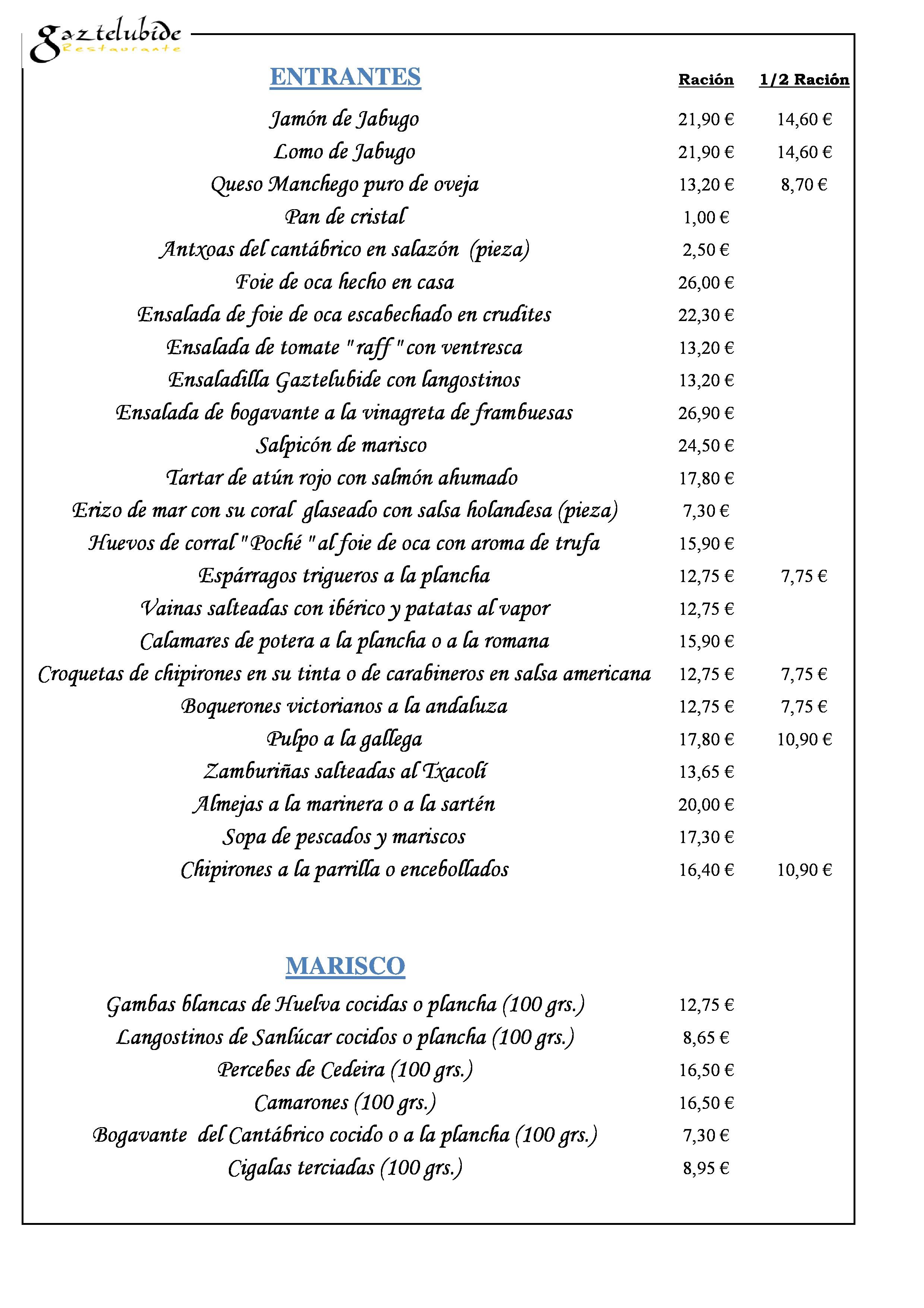 Gaztelubide Carta