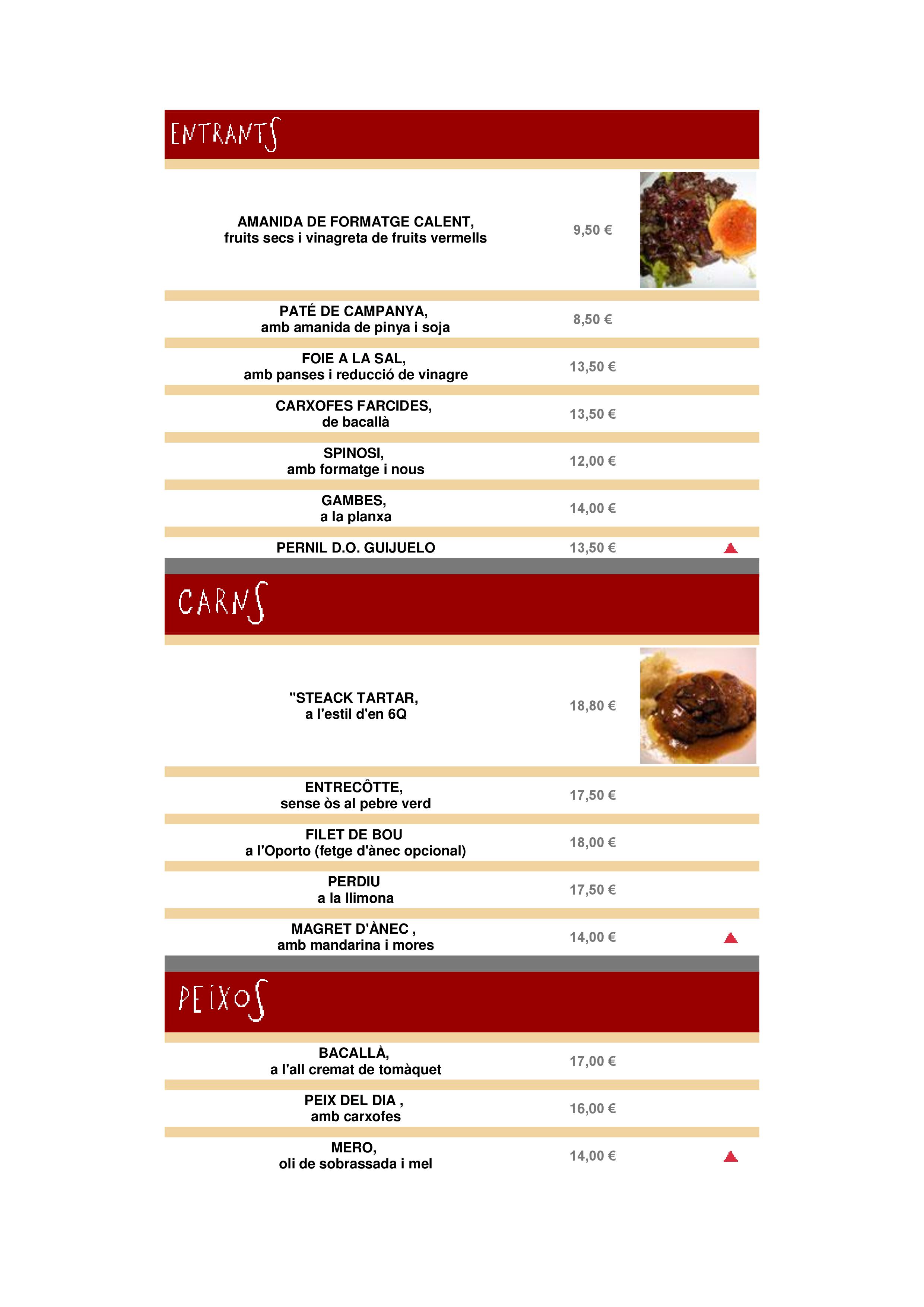 6Q Restaurant Carta