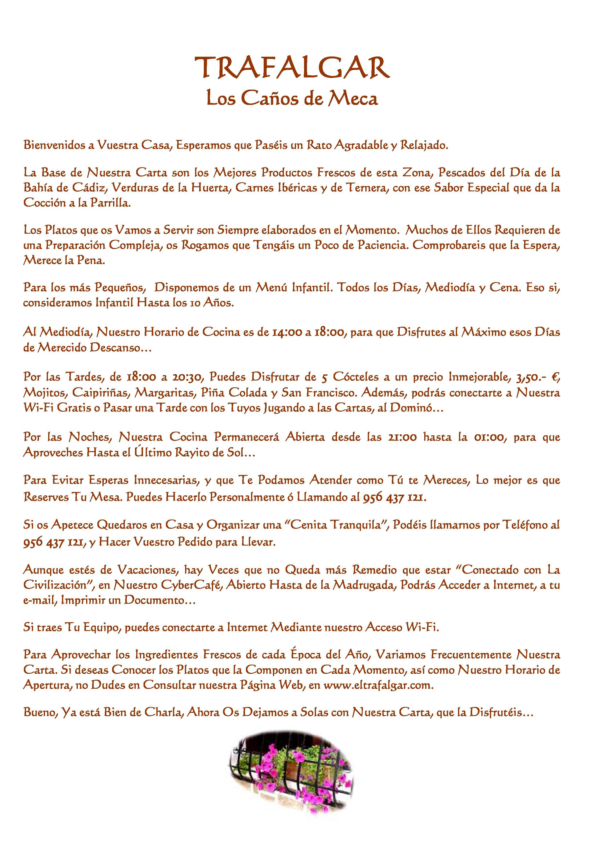 El Trafalgar Carta