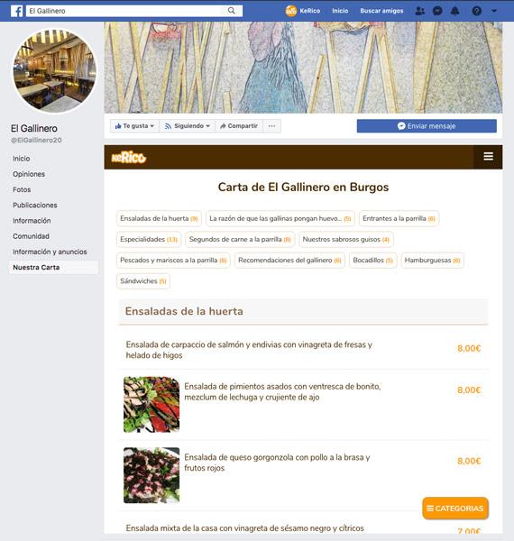 Crea tu carta online para tu restaurante