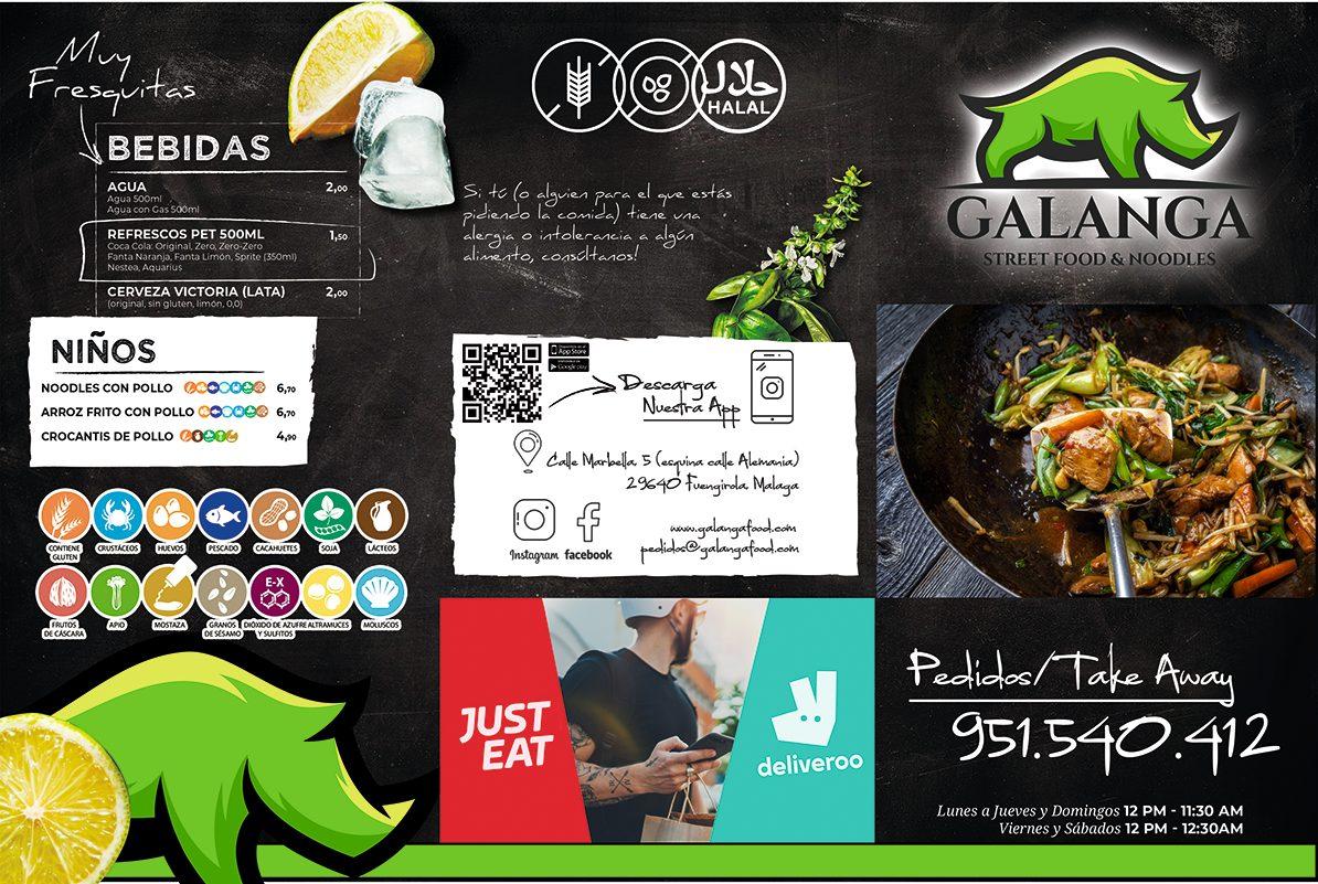 GALANGA STREET FOOD Carta